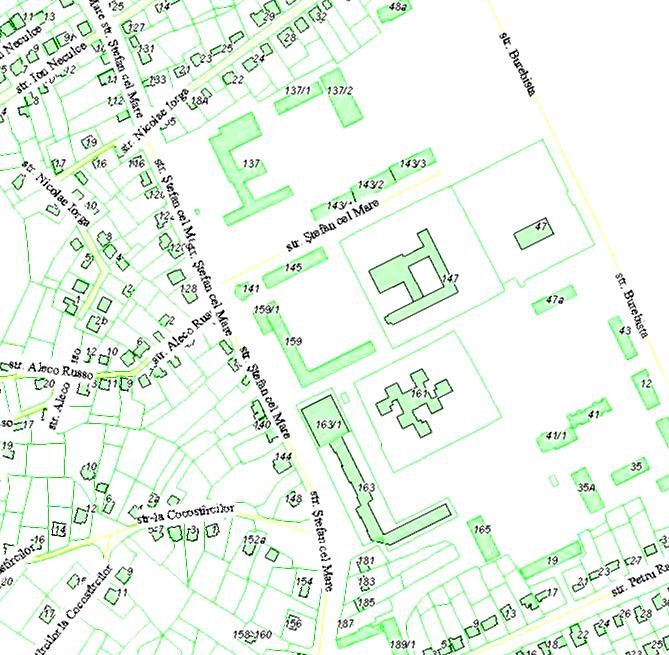 фрагмент карты Дануцен - Унгены